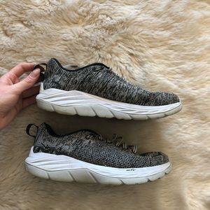 Hoka Grey/Black Time to Fly Sneakers